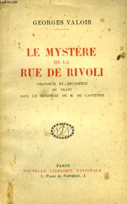 Le Mystère de la Rue de Rivoli.