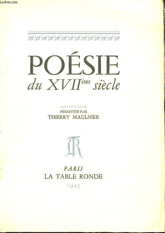 Poésie du XVIIeme siècle.