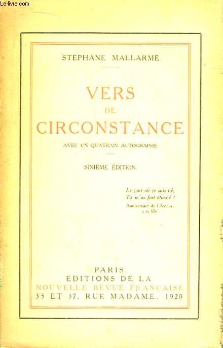 Vers de Circonstance