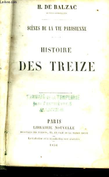 Histoire des Treize / La Maison du Chat-qui-Pelote. Scènes de la Vie Parisienne.
