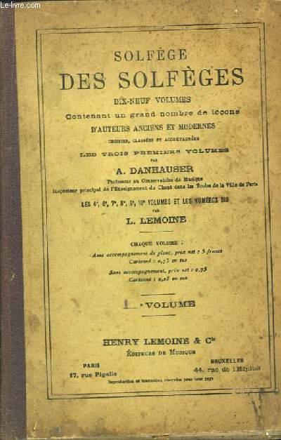 Solfège des Solfèges. 1er volume