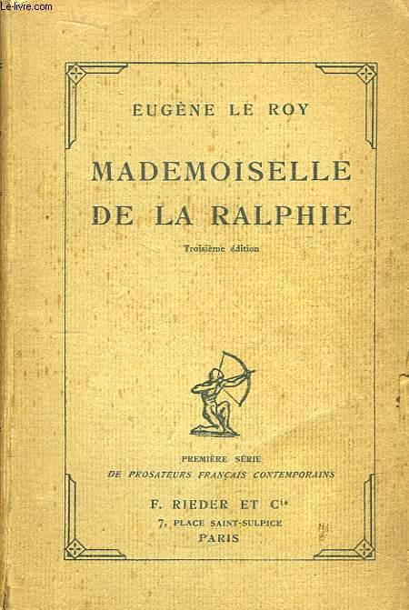 Mademoiselle de la Ralphie.