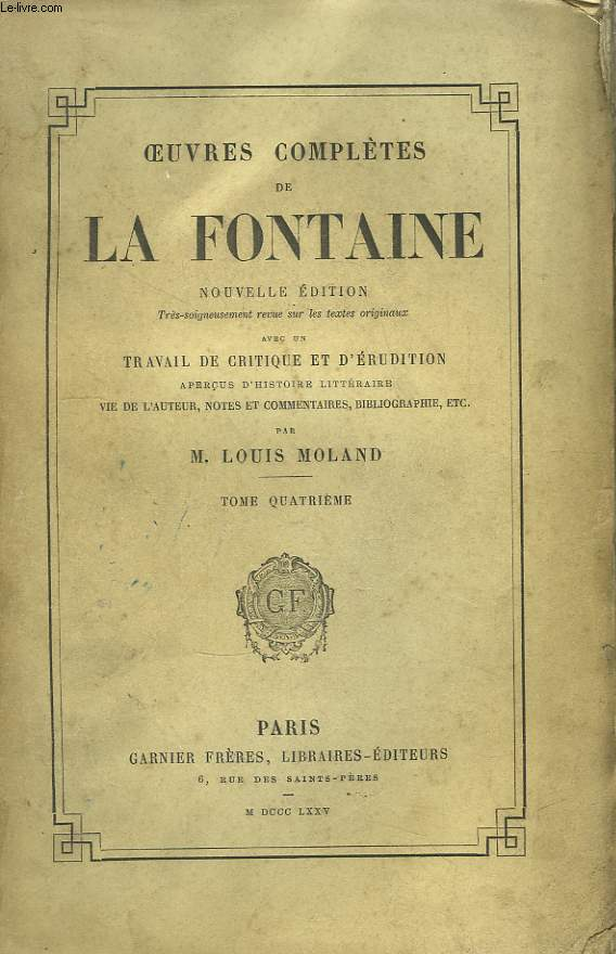 Oeuvres Complètes de La Fontaine. TOME 4 : Contes, Tome 2.