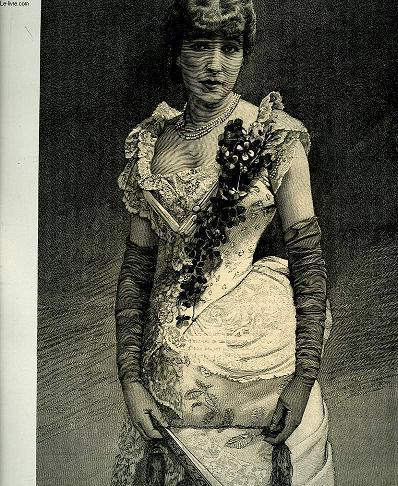 Portrait de Sarah Bernhardt, extrait du journal hebdomadaire