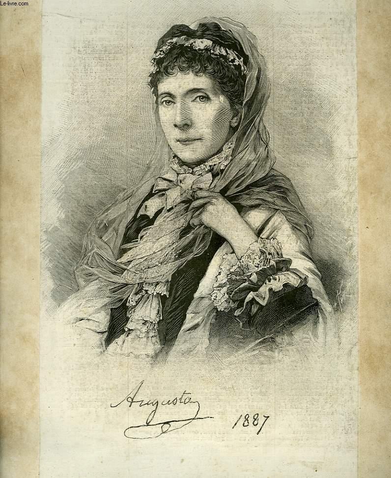 Portrait de Augusta (Impératrice de Prusse), extrait du journal hebdomadaire