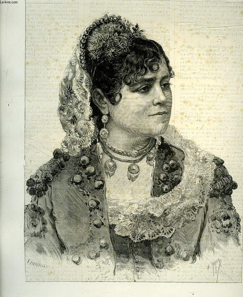Portrait de Galli-Marié, de l'Opéra Comique (Carmen), extrait du journal hebdomadaire