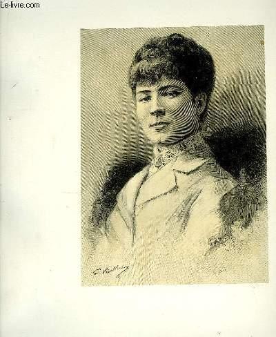 Portrait de Jeanne Garnier (Bouffes Parisiennes) , extrait du journal hebdomadaire