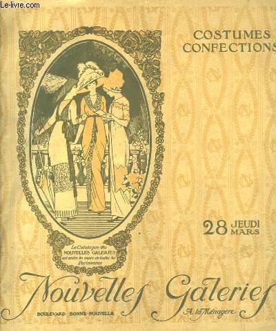 Catalogue Nouvelles Galeries, de Constumes et Confections. Jeudi 28 mars.