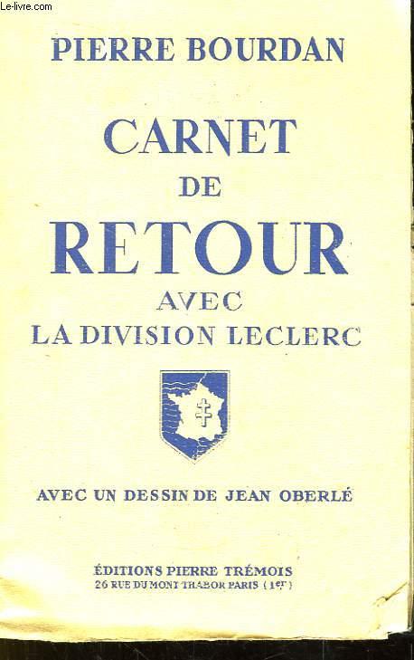 Carnet de retour avec la Division Leclerc.
