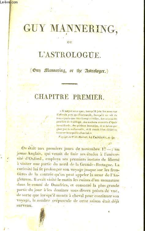Guy Mannering, ou l'Astrologue.