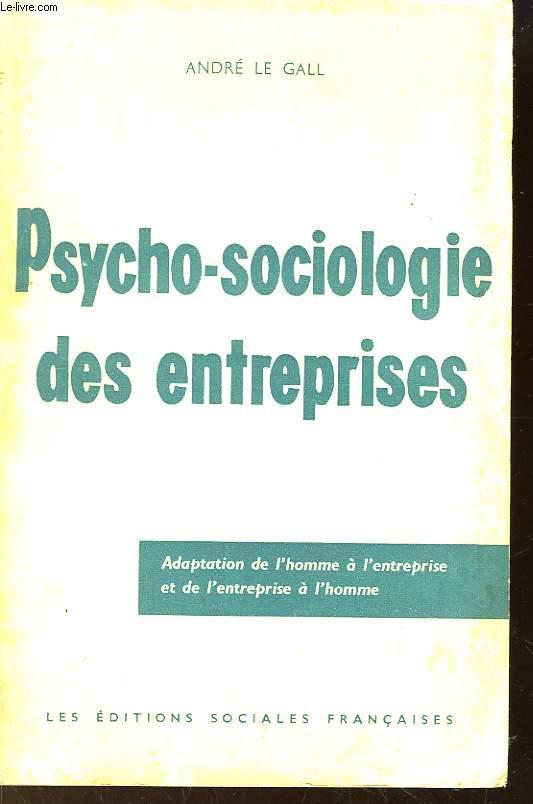 Psycho-sociologie des entreprises.