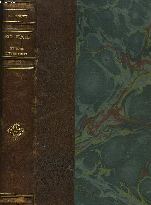 Dix-neuvième siècle. Etudes Littéraires.