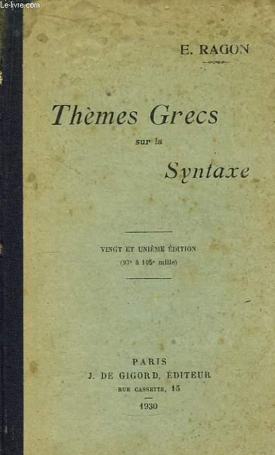 Thèmes Grecs sur la Syntaxe.