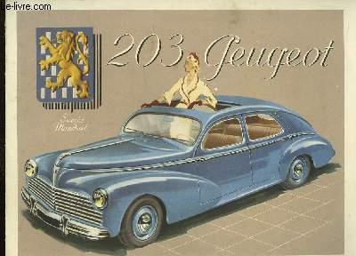 Plaquette publicitaire 203 Peugeot.