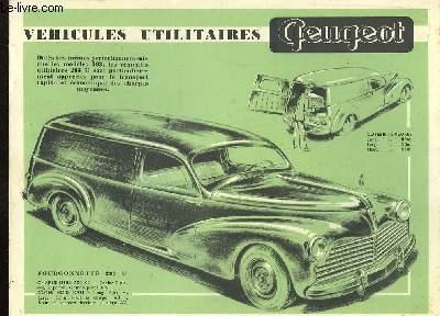 Plaquette Publicitaire Véhicule Utilitaire Peugeot.