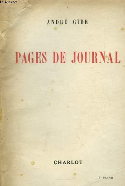 Pages de Journal.