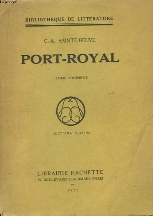 Port-Royal. TOME 3