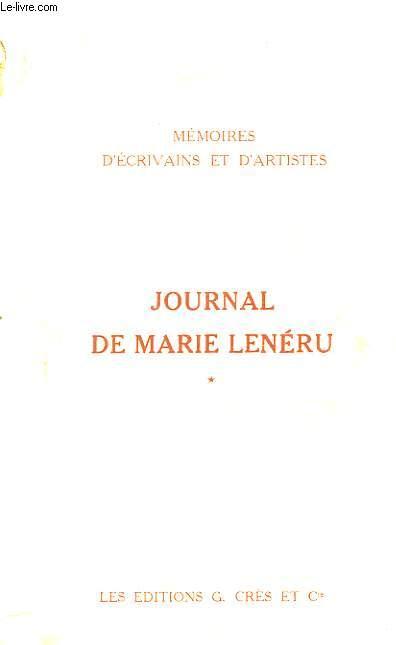 Journal de Marie Lenéru. TOME 1er
