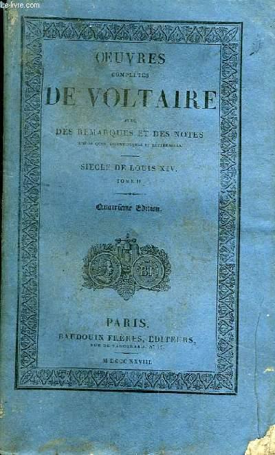 Oeuvres Complètes de Voltaire. TOME 26 : Siècle de Louis XIV, Tome II
