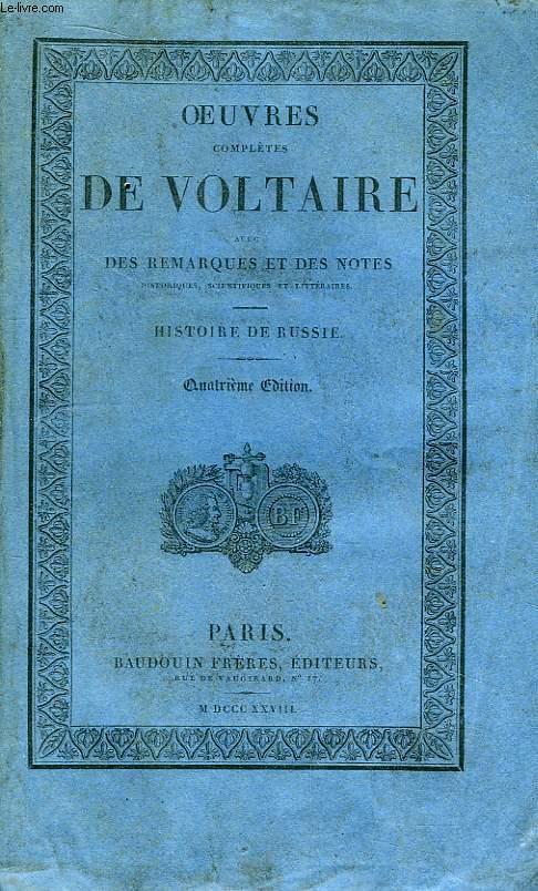 Oeuvres Complètes de Voltaire. TOME 31 : Histoire de Russie.