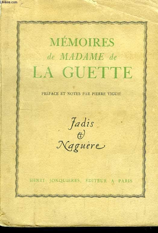 Mémoires de Madame de La Guette.