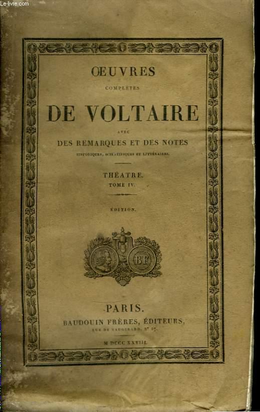 Oeuvres Complètes de Voltaire. TOME 5 : Théâtre, Tome IV : Le Temple de la Gloire, La Prude, Sémiramis, Nanine ou le Préjugé vaincu, La femme qui a raison, Oreste.