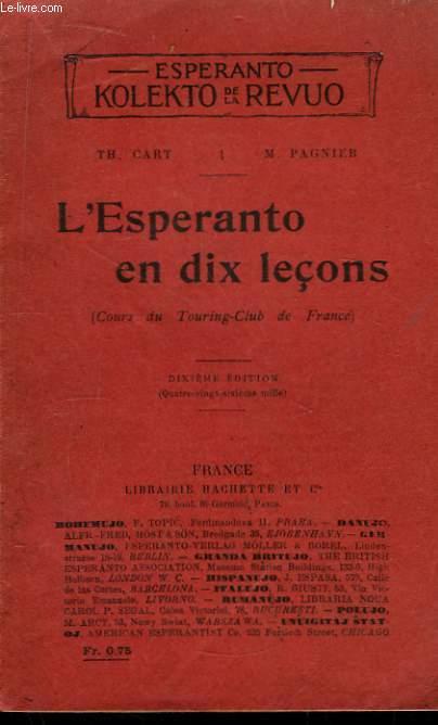 L'Esperanto en dix leçons.