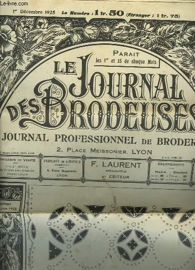 Le Journal des Brodeuses. Journal professionnel de Broderie. N°198, 9ème année : Sachets à mouchoirs, Milieu de centre de Buffet ...