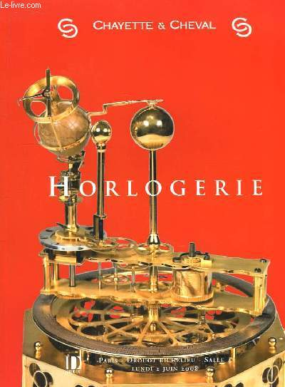 Catalogue de la Vente aux Enchères d'Horlogerie, du 2 juin 2008 à Drouot Richelieu.