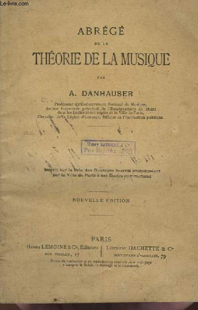 Abrégé de la Théorie de la Musique.