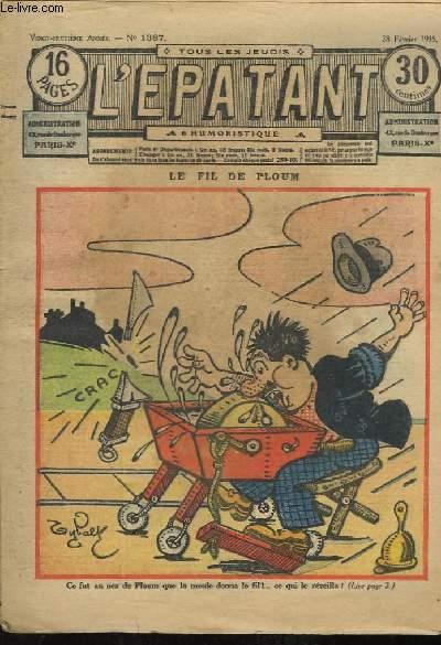 L'Epatant N°1387, 28ème année : Le Fil de Ploum.