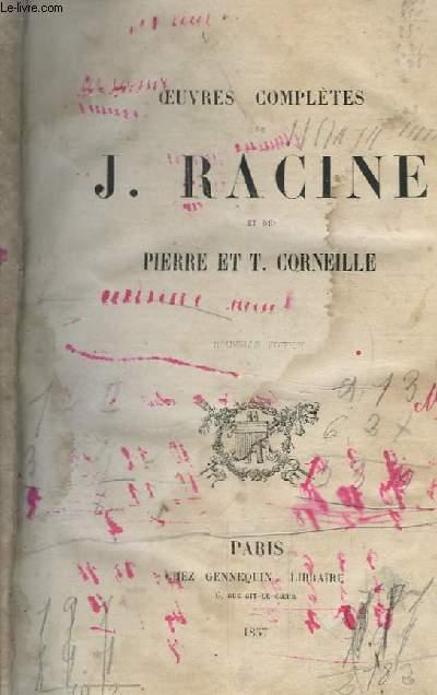 Oeuvres de J. Racine et Pierre et T. Corneille.