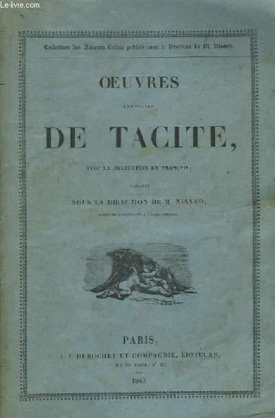 Oeuvres complètes de Tacite, avec la traduction en français publiées sous la direction de M. Nisard.