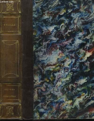 Oeuvres de J. Delille avec les notes de MM. Parseval-Grandmaison, de Féletz, de Choiseul-Gouffier, Aimé-Martin, Descuret ...