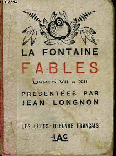 Fables. Livres VII à XII.