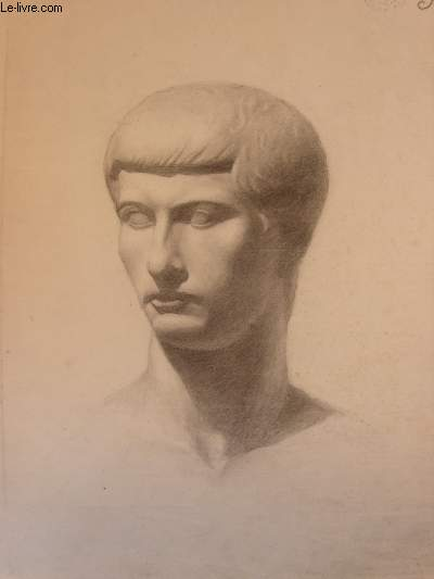 Portrait original d'un homme, dessiné de face 3/4, au crayon à papier.