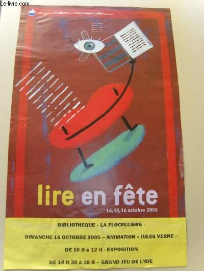 Lire en Fête, 14 , 15, 16 octobre 2005. Bibliothèque