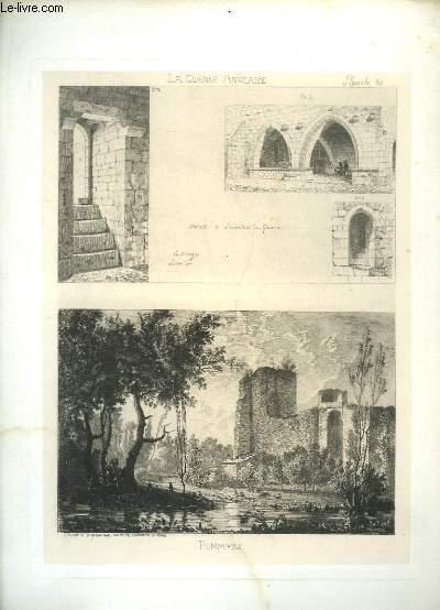 Gravure originale de Pommiers, tirée de La Guienne Anglaise