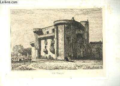 Gravure originale, du Château de La Marque