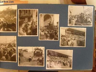 Gros Album Familial (1917 - 1952), de photos originales, en noir et blanc. Photos de famille, portrait, naissances, rues et avenues de Paris, ports, motos de l'époque, Surcouf à Saint-Malo, De Gaule, Algérie, Hanoï, Turquie ...