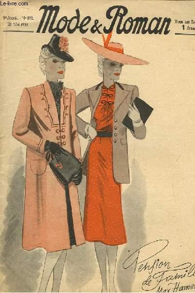 Mode & Roman N°372, 8e année : Pension de Famille par Max Hamel.