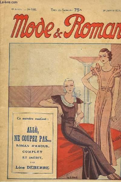 Mode & Roman N°145 - 4e année : Allô, ne coupez pas ..., par Line Deberre