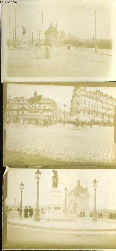 Album familial de photographies originales, en noir et blanc. Photos d'un hommes en uniforme, places parisiennes, Tour Eiffel, Fontaines et Statues, Eglise Notre-Dame, Voiliers et Barques, Courses Hippiques ...