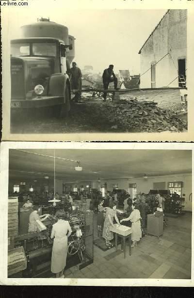 Lot de 2 photographies originales d'un camion et d'une manufacture marseillaise.