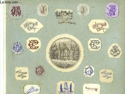 Album de Lettrines en couleurs et de Sceaux ou Cachets originaux en cire (dont celui des Fils de Cartier Bresson)