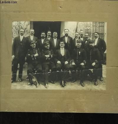 Photographie originale de la Fraternelle des Anciens du 55�me, � Marseille.