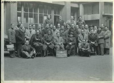 Photographie originale de la Classe du Cours des Chefs d'Equipe, Session Janvier - Février 1949