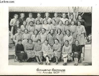 Photographie originale de la Classe de 2e B.E. Souvenir Scolaire 1937