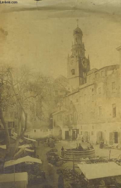 Photographie Originale de la Place du Marché avec l'Eglise 2nd plan, de San Remo.
