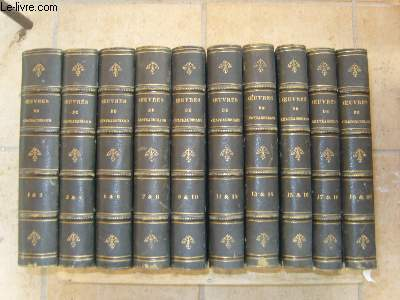 Oeuvres de Chateaubriand. 20 TOMES en 10 volumes.